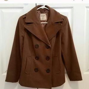 Brown old navy pea coat !